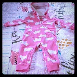 12 month Carters pink panda pj